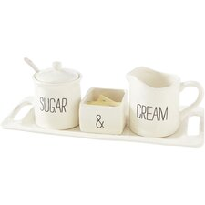 Bistro 4 Piece Sugar & Creamer Set