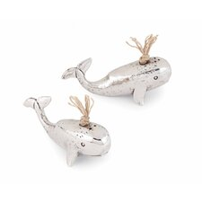 Whale Salt and Pepper (Set of 2)