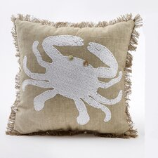 Crab Sequin Throw Pillow