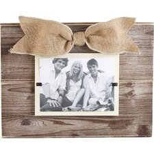 Pine Layered Burlap Picture Frame