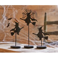 3 Piece Witch Tealight Holder Set