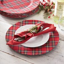 Red Tartan Plaid Charger (Set of 4)