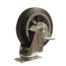 Flat Free Tire Caster All-Terrain Swivel with Brake