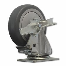 TPR Solid Wheel Swivel Caster with Brake