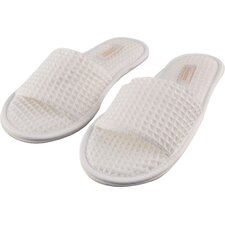 Women's Waffle Open Toe Spa Slippers