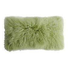 Backed Tibetan Lambskin Lumbar Pillow