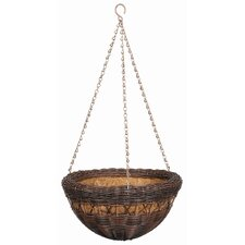 All Weather Resin Wicker Round Hanging Basket