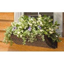 All Weather Resin Wicker Rectangular Window Box