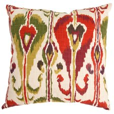 Ikat Bands Cotton Throw Pillow