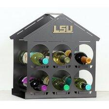 NCAA 6 Bottle Tabletop Wine Rack