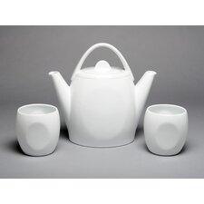 Silver Border 3 Piece 2-qt. Duet Teapot Kettle Set