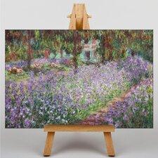 Leinwandbild Blühende Iris in Monets Garten Kunstdruck von Claude Monet