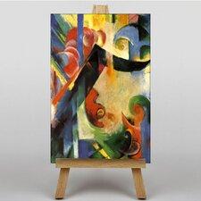 Leinwandbild Broken Forms, Kunstdruck von Franz Marc