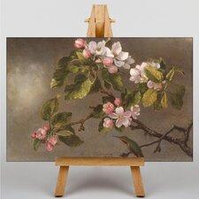 Leinwandbild Apfelblüte Kunstdruck von Martin Johnson Heade