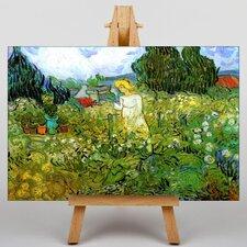 Leinwandbild Marguerite Gachet in the Garden, Kunstdruck von Vincent Van Gogh
