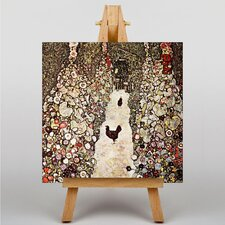 Garden with Chickens and Roosters by Gustav Klimt Art Print on Canvas