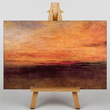 Sun Setting by Joseph Mallord William Turner Art Print on Canvas