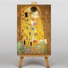 Leinwandbild The Kiss No.1, Kunstdruck von Gustav Klimt