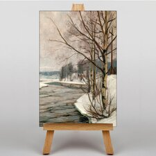 Birches in Early Spring by Victor Westerholm Art Print on Canvas