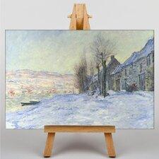 Leinwandbild Lavacourt: Sonnenschein und Schnee Kunstdruck von Claude Monet