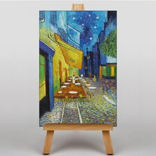 Cafe Terrace at Night by Vincent Van Gogh Art Print on Canvas