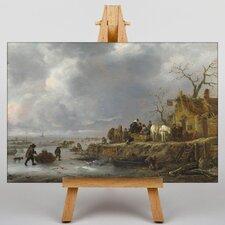 Leinwandbild Winterlandschaft Kunstdruck von Adriaen Van Ostade