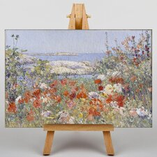 Celia Thaxters Garden by Childe Hassam Art Print on Canvas