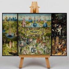 Leinwandbild Hieronymous Bosch The Garden of Earthly Delights, Kunstdruck von Hieronymous Bosch