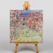 Leinwandbild Rose House, Kunstdruck von Claude Monet
