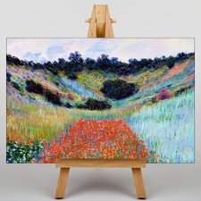Poppy Field in a Valley by Claude Monet Art Print on Canvas