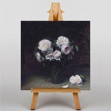 Leinwandbild Roses, Kunstdruck von Henri Fantin-Latour