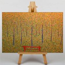 Red Park Bench by Georges-Pierre Seurat Art Print on Canvas