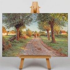 Farmers Cows by Peder Mork Monstead Art Print on Canvas