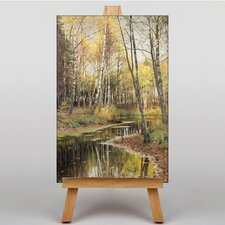 A Woodland Stream by Peder Mork Monstead Art Print on Canvas