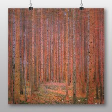 'Fir Tree Forest' by Gustav Klimt Art Print