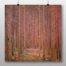 Poster Fir Tree Forest, Kunstdruck von Gustav Klimt