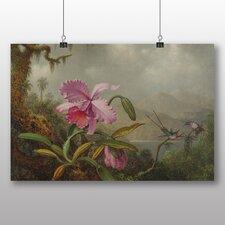 """Poster """"Pink Flower"""" von Martin Johnson Heade, Kunstdruck"""
