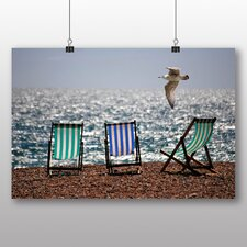Seagull Brighton Beach Photographic Print Wrapped on Canvas