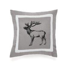 Snowfall Deer Decorative Throw Pillow