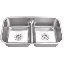 "32.38"" x 18.13"" Double Bowl Kitchen Sink"