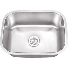 "23.5"" x 17.75"" Stainless Steel 18 Gauge Single Bowl Bar Sink"
