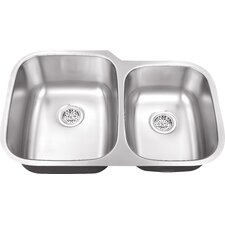 "32"" x 20.75"" Double Bowl Kitchen Sink"