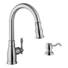 Single Handle Arc Kitchen Faucet with Soap Dispenser