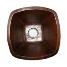 """18"""" x 18"""" Single Bowl Copper Kitchen/Bar Sink"""