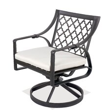Catalina Rocking Swivel Dining Arm Chair with Cushion