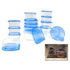 30-Piece Plastic Food Storage Container Set