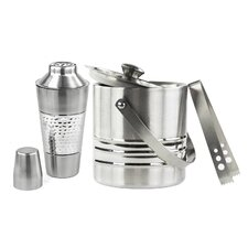 Stainless Steel Cocktail Shaker and Bucket Set