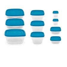 10-Piece Reusable Plastic Lunch Box Set