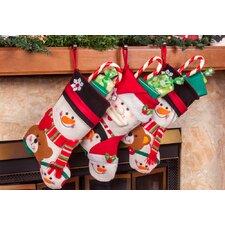 "3 Piece 18"" Cute Santa's Toys Stocking Set"