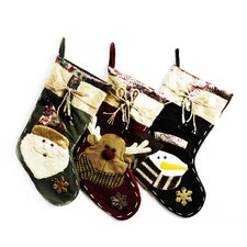 Reindeer with Bells Stocking